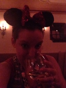 Fancy dining... complete with mouse ears!
